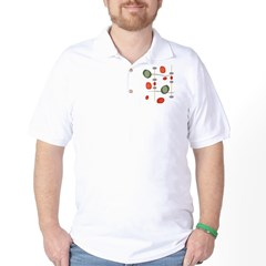NeoJazz Vermilion Art-Tee Golf Shirt