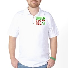 Green is the New Red Golf Shirt