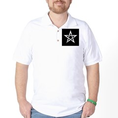 Wiccan Pentagram Golf Shirt