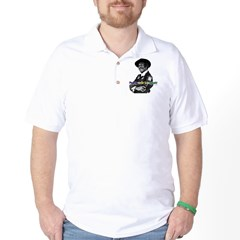 cafepress_clock Golf Shirt