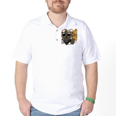 Biohazard Skull in Mask Golf Shirt