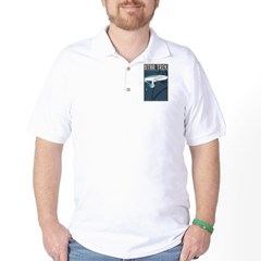 Retro Star Trek: TOS Poster Golf Shirt