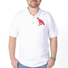 Red Dino Golf Shirt