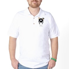Big Nose/Butt Border Collie Golf Shirt