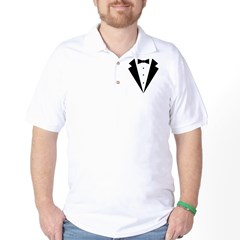 Minimalist Funny Tuxedo Golf Shirt