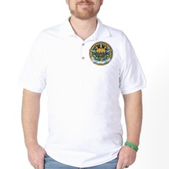 Imbolc Pentacle Golf Shirt