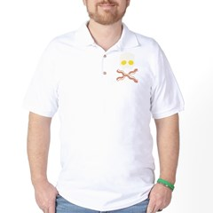 Breakfast Skull Golf Shirt