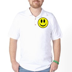 SMILEY FACE Ash Grey Golf Shirt