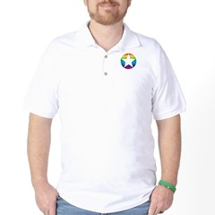 Rainbow Star Golf Shirt