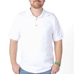 White Obvious Hill Golf Shirt