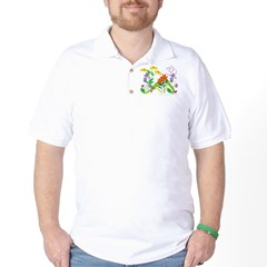 Humming Flowers by Nancy Vala Golf Shirt