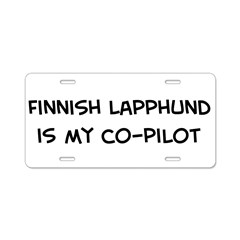 Co-pilot: Finnish Lapphund Aluminum License Plate