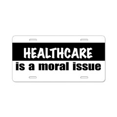 Healthcare Aluminum License Plate