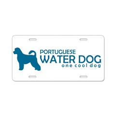 "P. Water Dog ""One Cool Dog"" Aluminum License Plate"