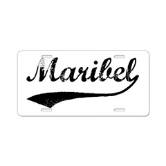 Vintage: Maribel Aluminum License Plate