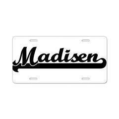 Black jersey: Madisen Aluminum License Plate