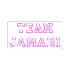 Pink team Jamari Aluminum License Plate