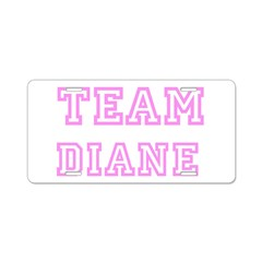 Pink team Diane Aluminum License Plate