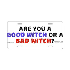 Good Witch or Bad Witch? Aluminum License Plate