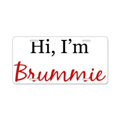 Hi, I am Brummie Aluminum License Plate