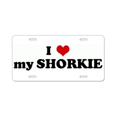 I Love my SHORKIE Aluminum License Plate