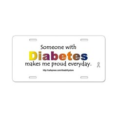 Diabetes Pride Aluminum License Plate