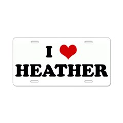 I Love HEATHER Aluminum License Plate