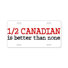 Half Canadian Aluminum License Plate