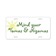 YogaMoxie Aluminum License Plate