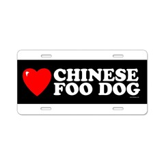 CHINESE FOO DOG Aluminum License Plate
