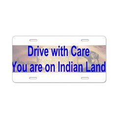 Native American-BS Aluminum License Plate