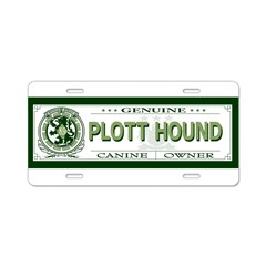 PLOTT HOUND Aluminum License Plate