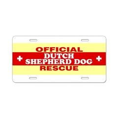 DUTCH SHEPHERD DOG Aluminum License Plate