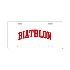 Biathlon (red curve) Aluminum License Plate