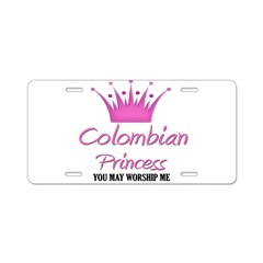 Colombian Princess Aluminum License Plate