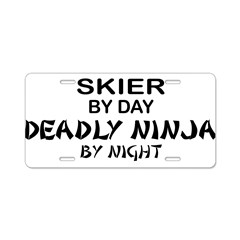 Skier Deadly Ninja Aluminum License Plate
