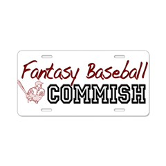 Fantasy Baseball Commish Aluminum License Plate