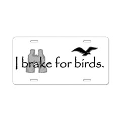 birding Aluminum License Plate