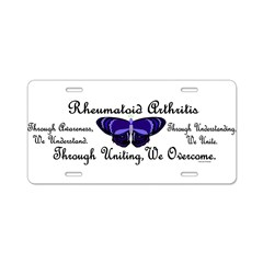 Butterfly Awareness 1 (Rheumatoid Arthritis) Aluminum License Plate