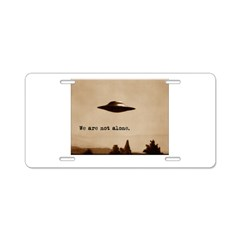 X-Files - We Are Not Alone Aluminum License Plate