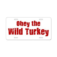 Obey the Wild Turkey Aluminum License Plate