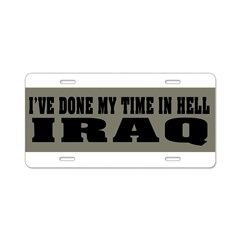 Iraq-Hell Aluminum License Plate