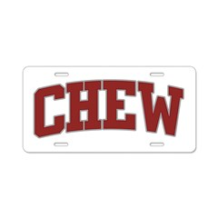 CHEW Design Aluminum License Plate