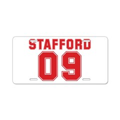 STAFFORD 09 Aluminum License Plate