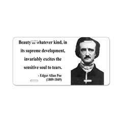 Edgar Allan Poe 11 Aluminum License Plate