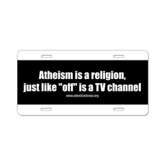 Atheism TV Aluminum License Plate