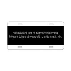 Morality Religion Aluminum License Plate