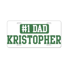 Number 1 Dad - Kristopher Aluminum License Plate
