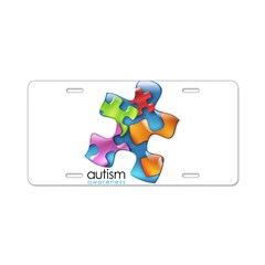 PuzzlesPuzzle (MC) Aluminum License Plate