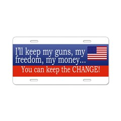 Keep the Change Aluminum License Plate